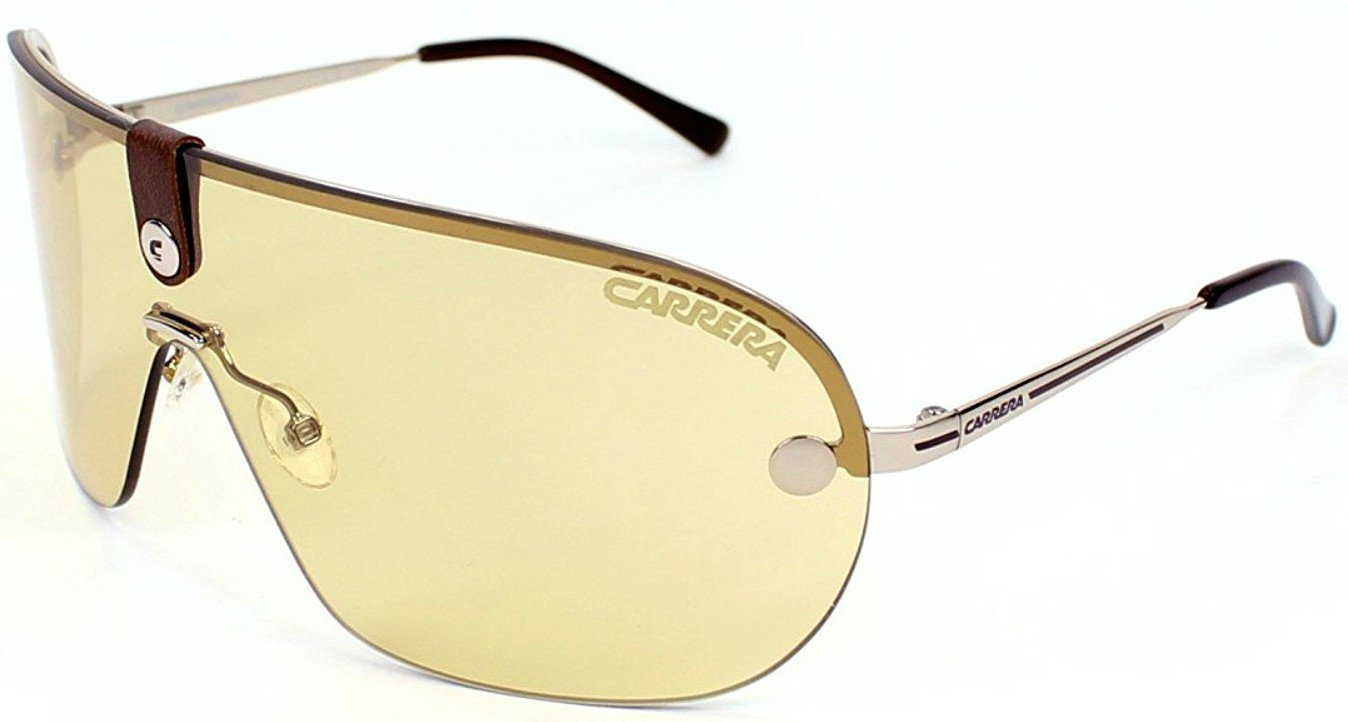 Carrera Unisex Aviator Half-Rim Yellow Light Gold Tone Sunglasses CARRERA 37 3YG/FS
