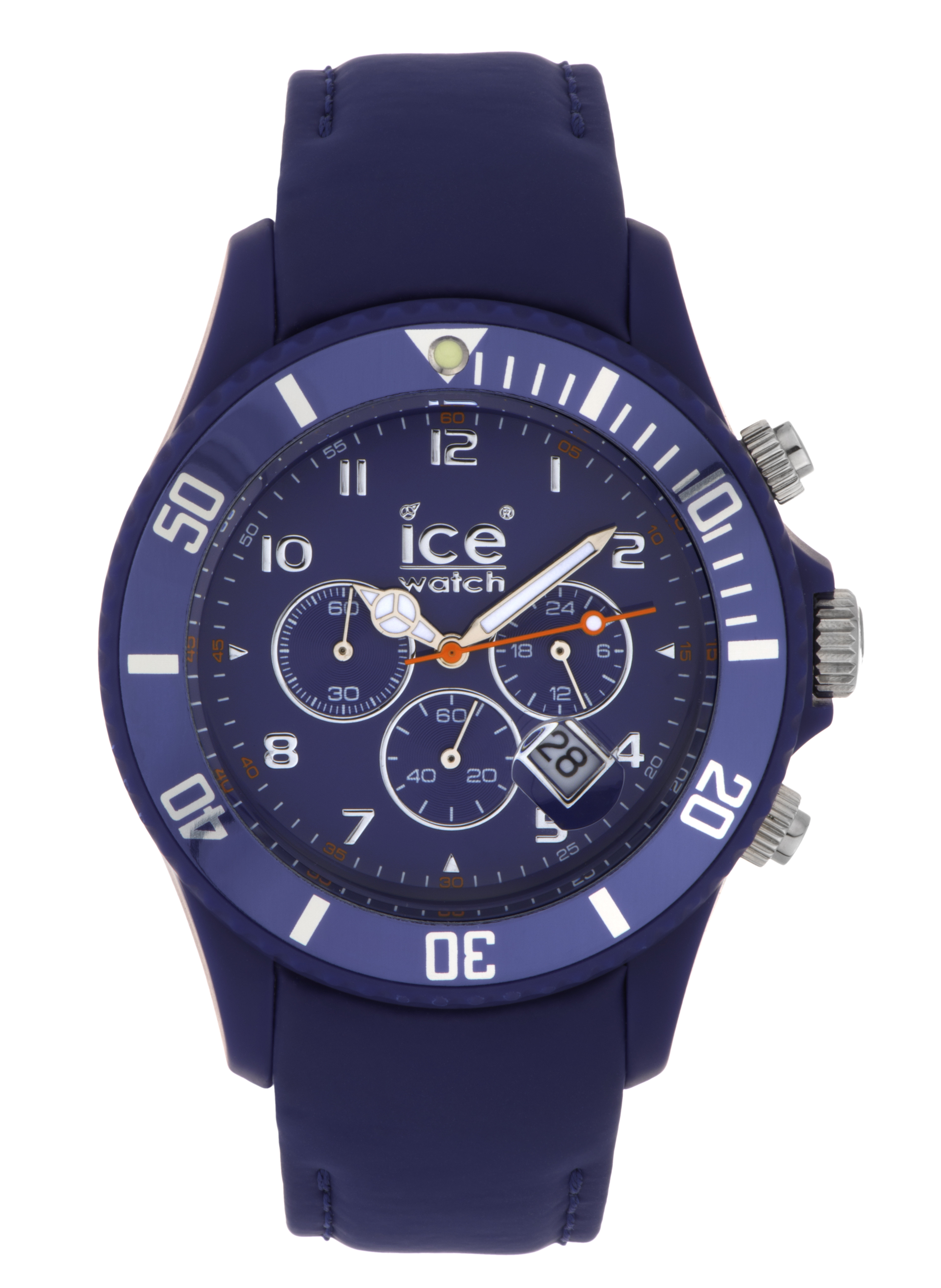 Ice-Watch Men's Chronograph Blue Dial Blue Leather Watch ...