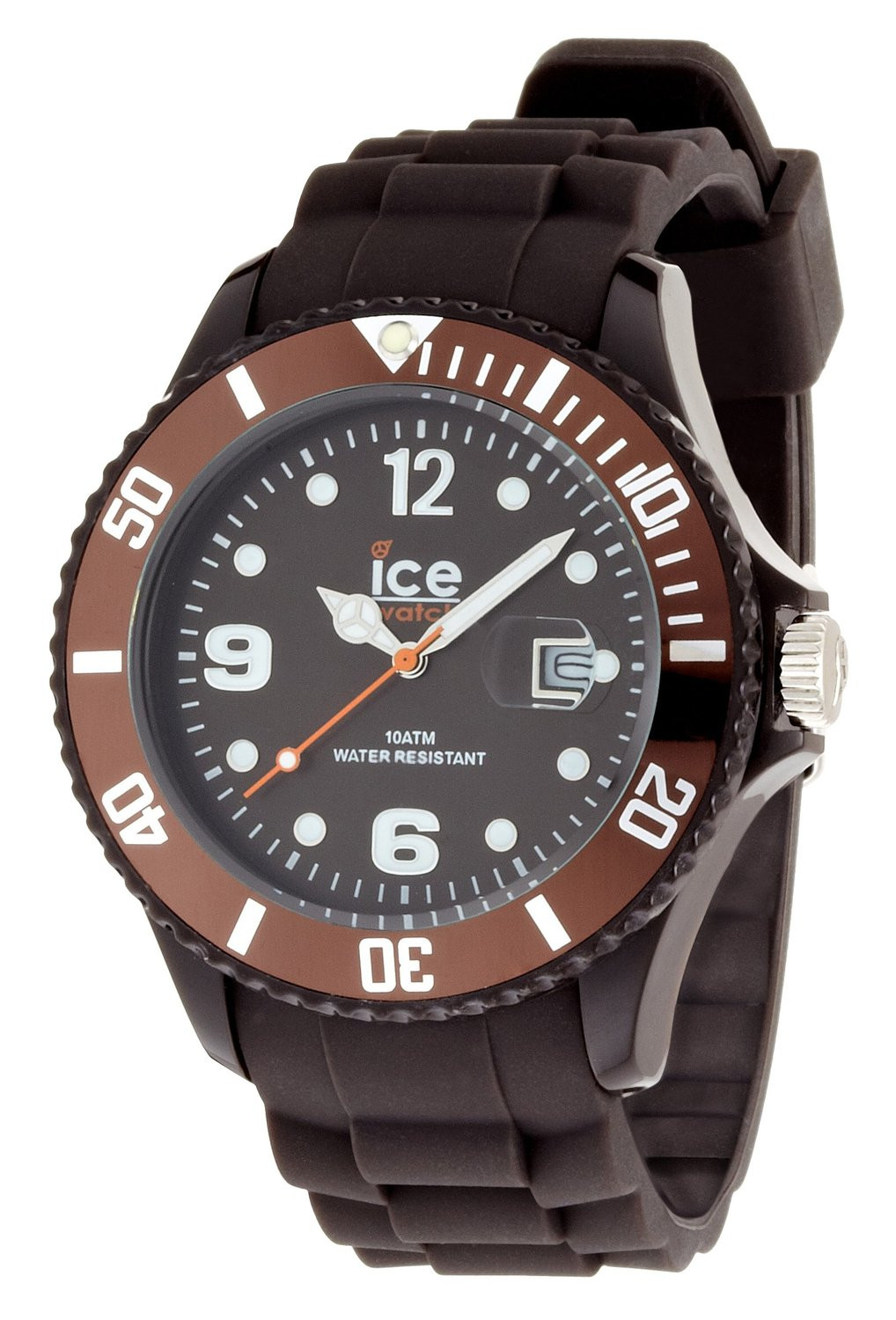 Ice-Watch Unisex Brown Dial Chocolate Silicone Watch CT.KC.B.S.10
