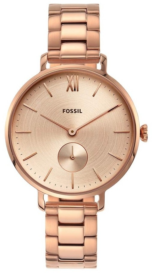 Fossil Women S Kayla Rose Gold Dial Rose Gold Stainless Steel Watch Es4571