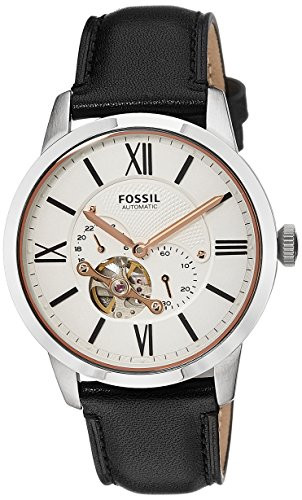 Fossil Men's Townsman Automatic Black Leather Watch ME3104