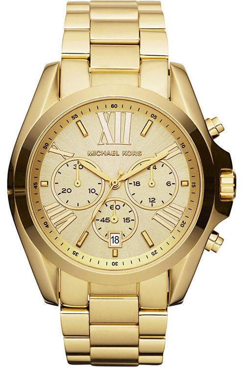 Michael Kors Unisex Bradshaw Chronograph Gold-Tone Watch MK5605