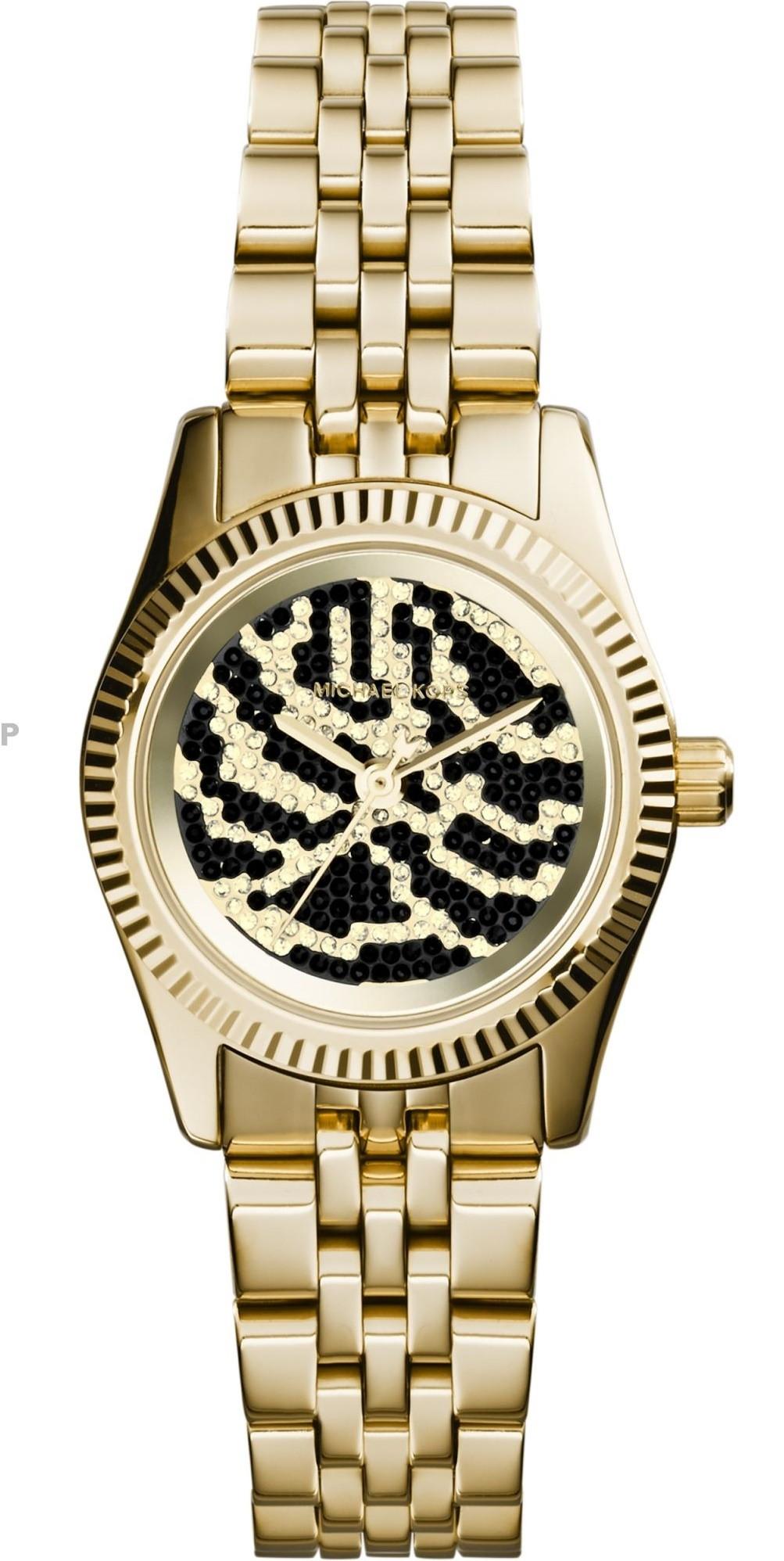 41af5a9bf346 Michael Kors Women's Petite Lexington Gold Tone Watch MK3300