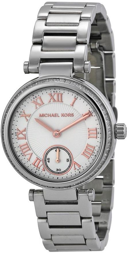 Michael Kors Skylar Silver Dial Silver Tone Stainless Steel Watch MK5970