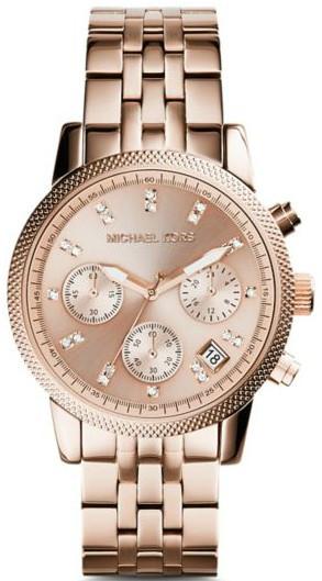 2c750e35a3c Michael Kors Women s Ritz Chronograph Rose Dial Watch MK6077