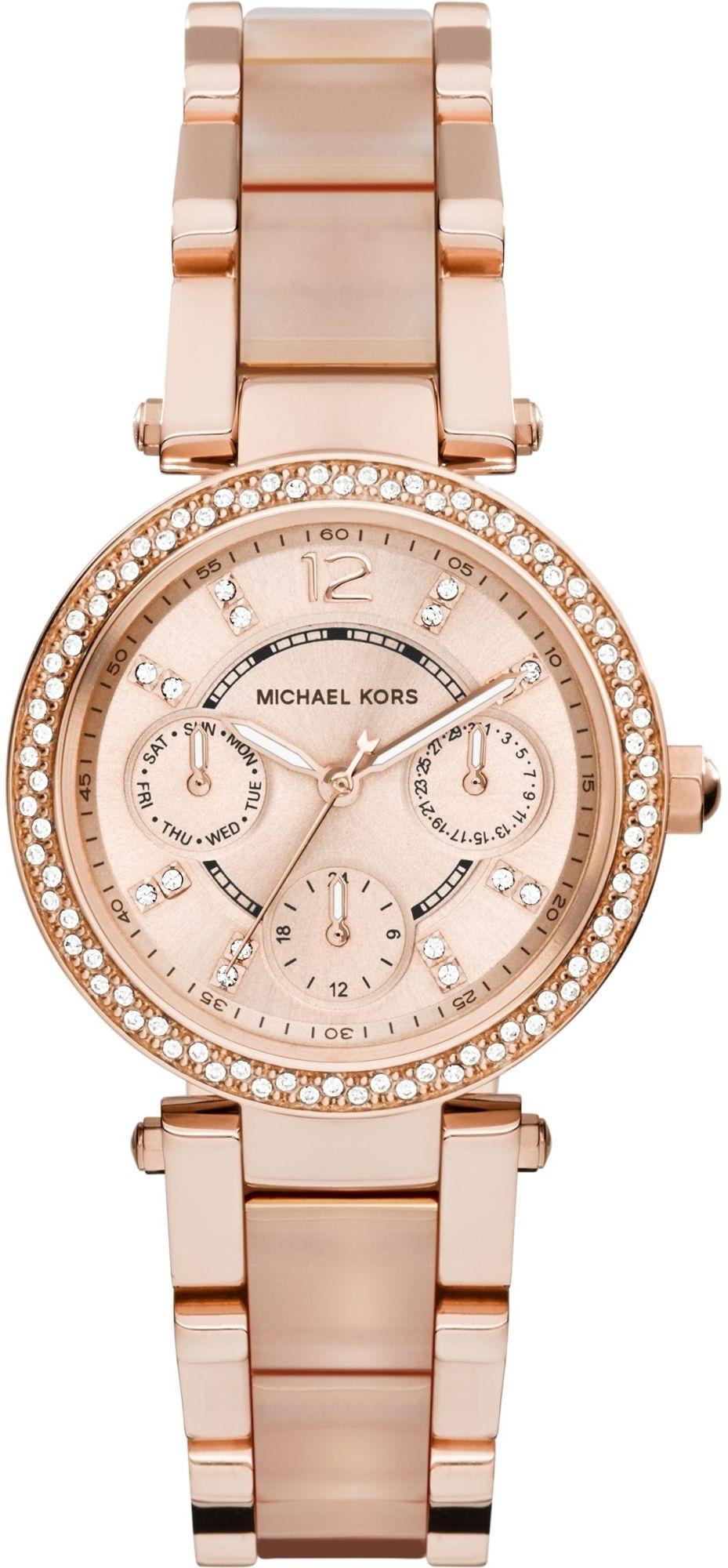 Michael Kors Women's Mini Parker Two-Tone Watch MK6110