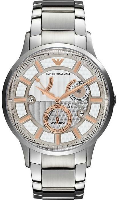 c33f48c4a Emporio Armani Men's Meccanico Automatic Stainless Steel Watch AR4668