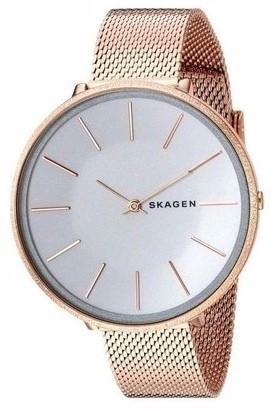 Skagen Women's Karolina White Dial Rose Gold Tone Mesh Bracelet Watch SKW2726.jpg