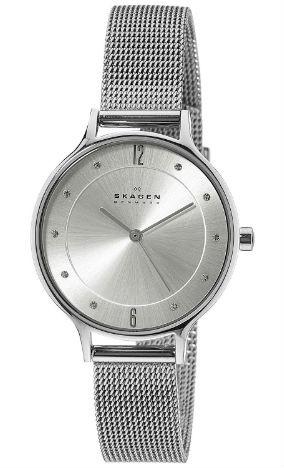 Skagen Women's Anita Stainless Steel Watch with Mesh Braceleta