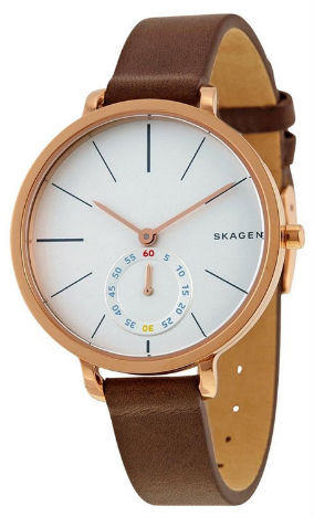 7356f0db3b1e Skagen Women s Hagen Brown Leather Watch SKW2356