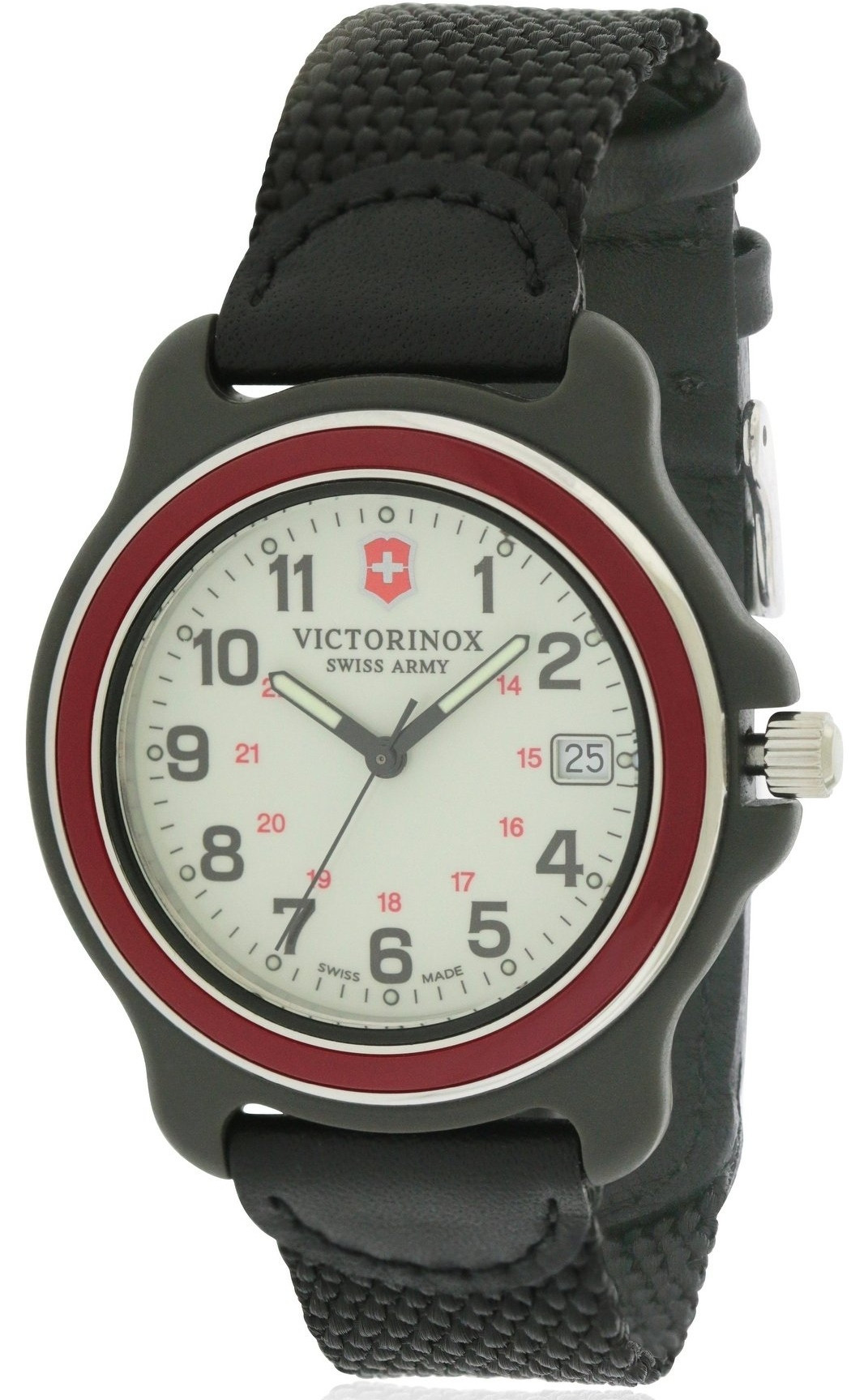 Victorinox Original Men S White Dial Black Nylon Watch