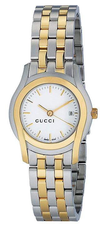 Gucci Women's G Class White Dial Two-tone Watch YA055520