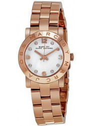 Marc by Marc Jacobs Women's Mini Amy White Dial Rose Gold-Tone Watch MBM3078