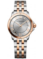Raymond Weil Men's Tango Silver Dial Two Tone Watch 5599-SB5-00658