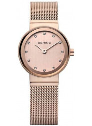 Bering Women's Classic Rose Gold Stainless Steel Mesh Watch 10122-366
