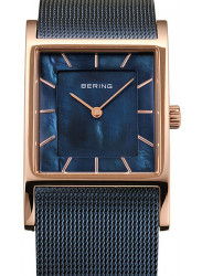 Bering Women's Classic Blue Dial Blue Stainless Steel Mesh Watch 10426-367-S
