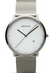 Bering Men's White Dial Stainless Steel Mesh Watch 11139-004