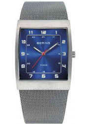 Bering Men's Classic Blue Dial Stainless Steel Mesh Watch 11233-078
