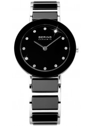 Bering Women's Black Dial Two Tone Ceramic Watch 11435-749