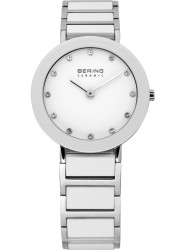 Bering Women's White Dial Two Tone Ceramic Watch 11429-754