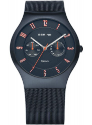 Bering Men's Classic Blue Stainless Steel Mesh Watch 11939-393