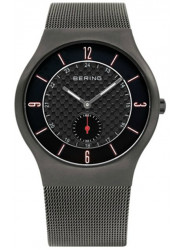 Bering Men's Classic Black Dial Stainless Steel Mesh Watch 11940-377
