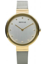 Bering Women's Silver Dial Gold tone Stainless Steel Watch 12034-010