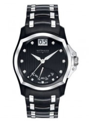 Wittnauer Men's Monserrat Black Dial Two Tone Watch 12D106