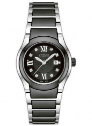 Wittnauer Men's Ceramic Black Dial Two Tone Watch 12P100
