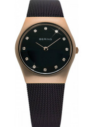 Bering Women's Classic Brown Stainless Steel Mesh Watch 11927-262