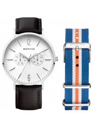 Bering Unisex White Dial Interchangeable Bracelet Watch 14240-404