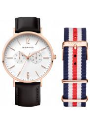 Bering Unisex White Dial Interchangeable Bracelet Watch 14240-464