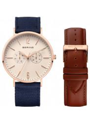 Bering Unisex White Dial Interchangeable Bracelet Watch 14240-564