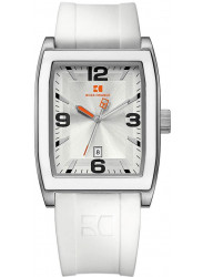 Hugo Boss Men's Orange Silver Dial White Rubber Watch 1512684