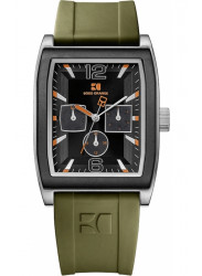 Hugo Boss Men's Orange Black Dial Green Rubber Watch 1512686
