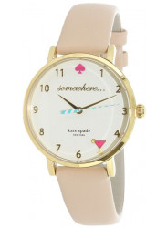 Kate Spade Women's New York Beige Dial Beige Leather Watch 1YRU0484