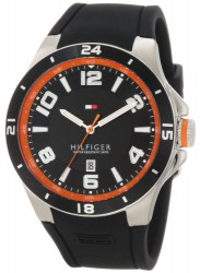 Tommy Hilfiger Men's Blake Black Rubber Watch 1790861