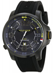 Tommy Hilfiger Men's Black Silicone Strap Watch 1791008