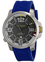 Tommy Hilfiger Men's Blue Silicone Strap Watch 1791010