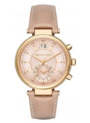 Michael Kors Women's Sawyer Chronograph Beige Strap Watch MK2529