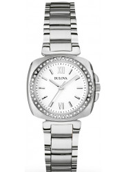 Bulova Women's White Dial Stainless Steel Watch 96R200