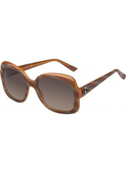 Gucci Women's Oversized Full Rim Brown Orange Sunglasses GG 3190/S 0S0/ED