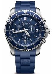 Victorinox Men's Maverick Chronograph Blue Dial Blue Rubber Watch 241690