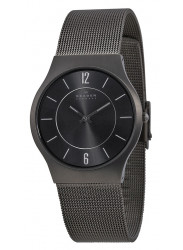 Skagen Men's Titanium Charcoal Dial Watch 233LTTM