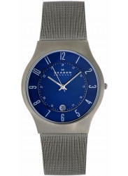 Skagen Men's Blue Dial Titanium Watch 233XLTTN