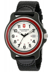 Victorinox Men's Original GMT White Dial Black Nylon Strap Watch 249088