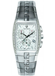 Accutron Men's Lucerne Chronograph Silver Dial Stainless Steel Diamonds Watch 26E11