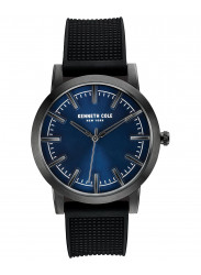 Kenneth Cole New York Men's Blue Dial Silicone Strap Watch 10030808