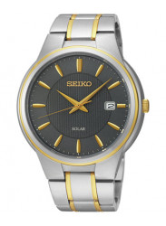Seiko Men's Two Tone Grey Dial Watch SNE404