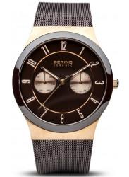 Bering Men's  Brown Dial Stainless Steel Mesh Watch 32139-265